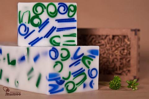 Глицериновое мыло ручной работы Полонез (аналог аромата KENZO POUR HOMME) внарезку 100 г ТМ Мылофф