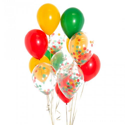 """Композиции Букет шаров с разноцветным конфетти """"Тропический"""" тропический.jpg"""