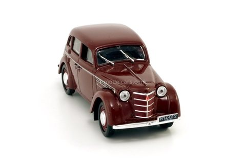 Moskvich-400 dark red 1:43 DeAgostini Kultowe Auta PRL-u #37
