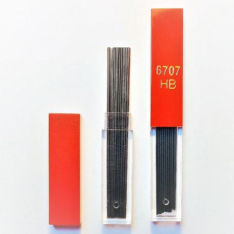 Грифели Carandache (6707.350) 0.7мм для механических карандашей твердость HB 12шт в уп