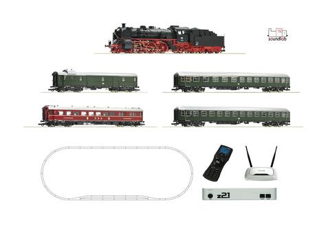 Цифровой набор Паровоз BR18.6 со ЗВУКом + пассажирские вагоны DB