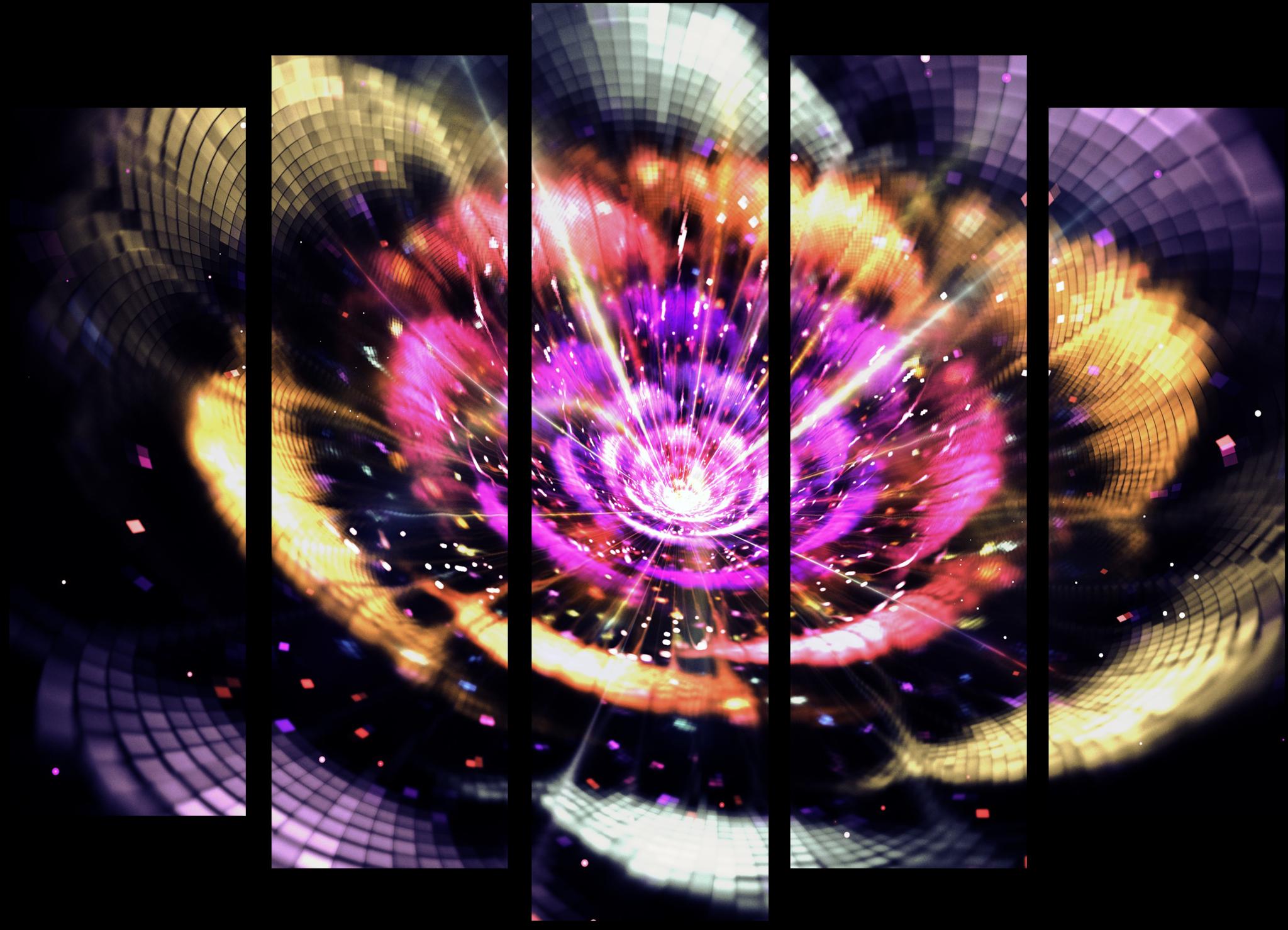"""Модульные картины Модульная картина """"Космический вихрь"""" М173.png"""