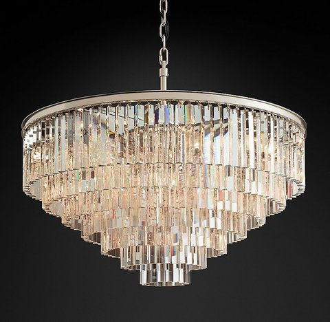 Подвесной светильник копия 1920s Odeon Clear Glass Fringe 7-Tier Chandelier by Restoration Hardware