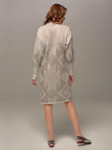 Женское платье светло-серого цвета с узором - фото 4