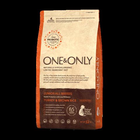 One&Only Turkey & Rice Junior All Breeds Сухой корм для юниоров всех пород Индейка с рисом низкозерновой