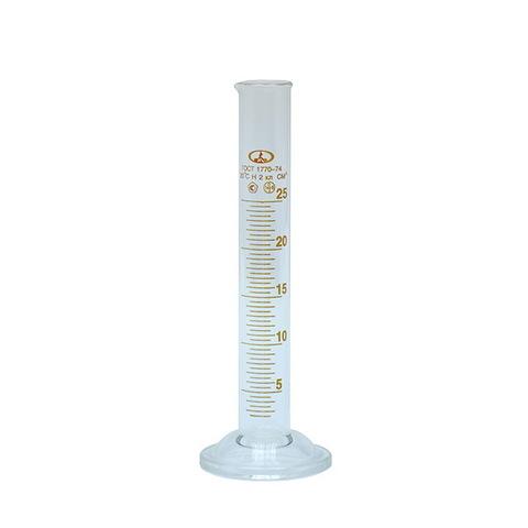 Цилиндр мерный стеклянный, 25 мл