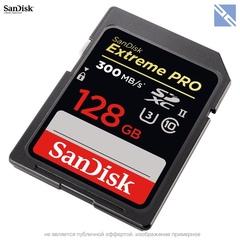 Карта памяти SanDisk 128GB Extreme Pro UHS-II SDXC 300Мб/с