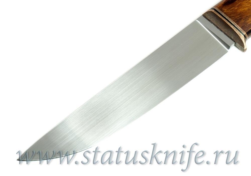 Нож авторский М390 медь G10 мельхиор ironwood - фотография