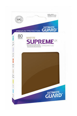 Supreme Sleeves Standard Size Matte Brown (UX)