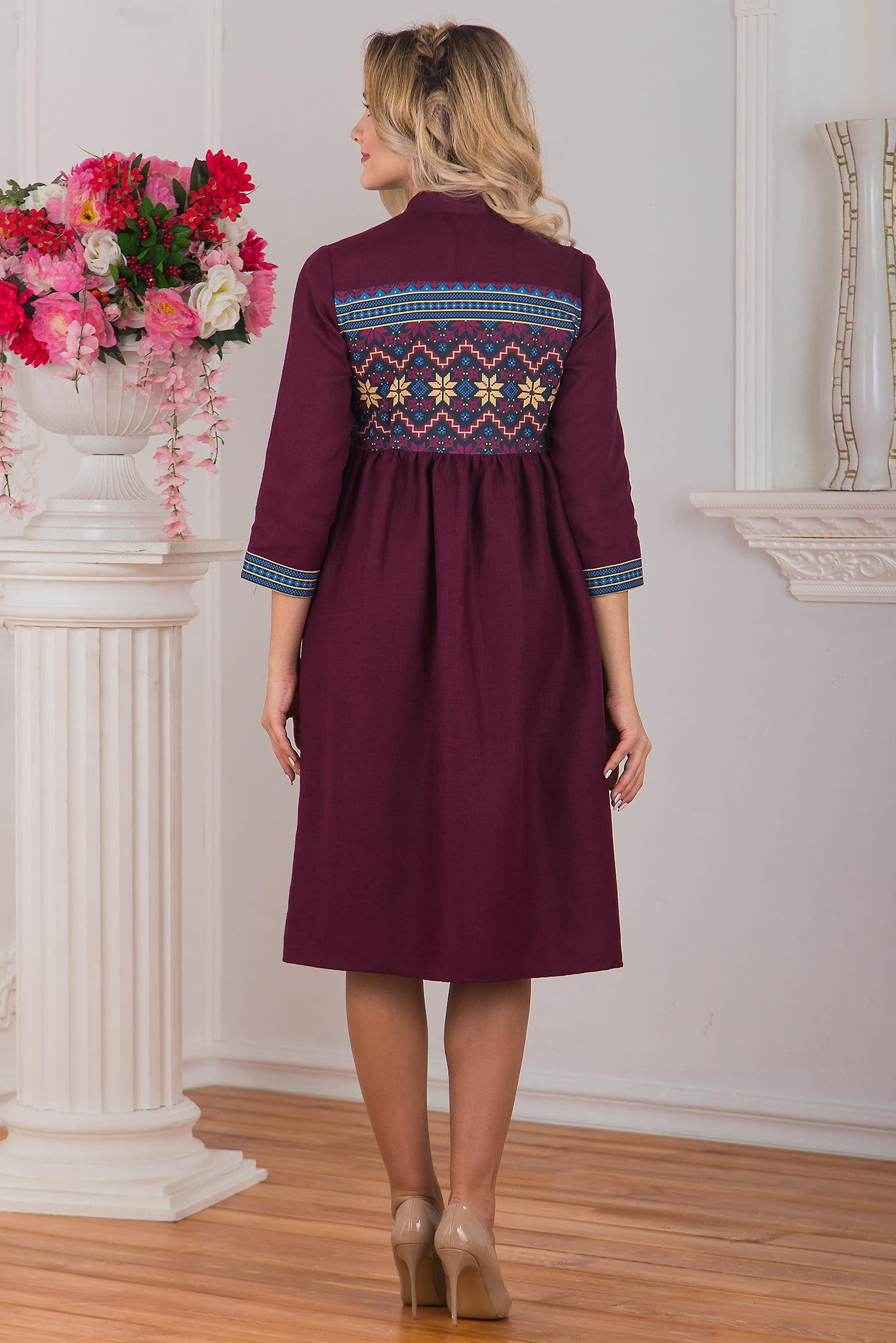 Платье бохо Каберне вид сзади