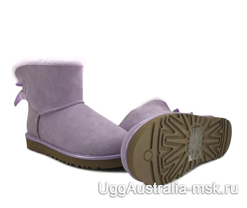 UGG Mini Bailey Bow II Metallic Purple