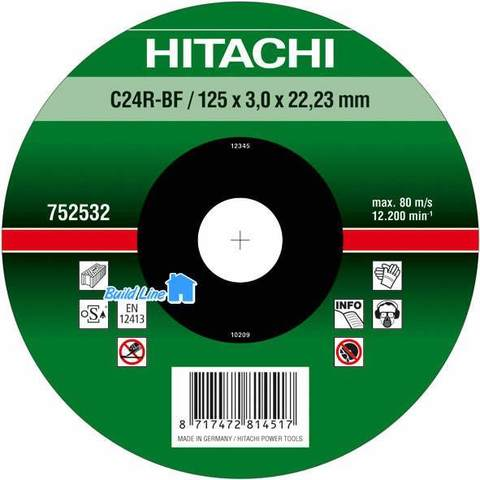 Диск отрезной по камню 180*3*22.2мм НТС-752534 C, Hitachi
