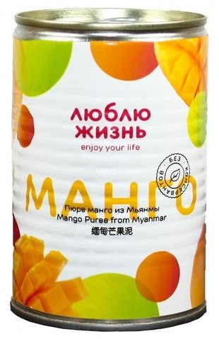 Пюре манго из Мьянмы 430 гр