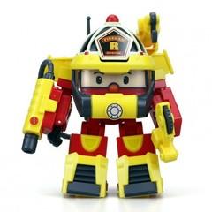 Robocar Poli Трансформер Рой (10 см) + костюм пожарного (83314)