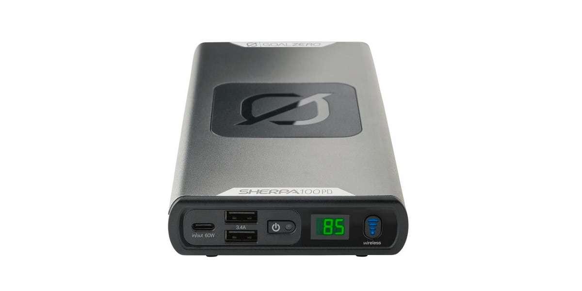 Портативный источник питания Goal Zero Sherpa 100 PD вид спереди