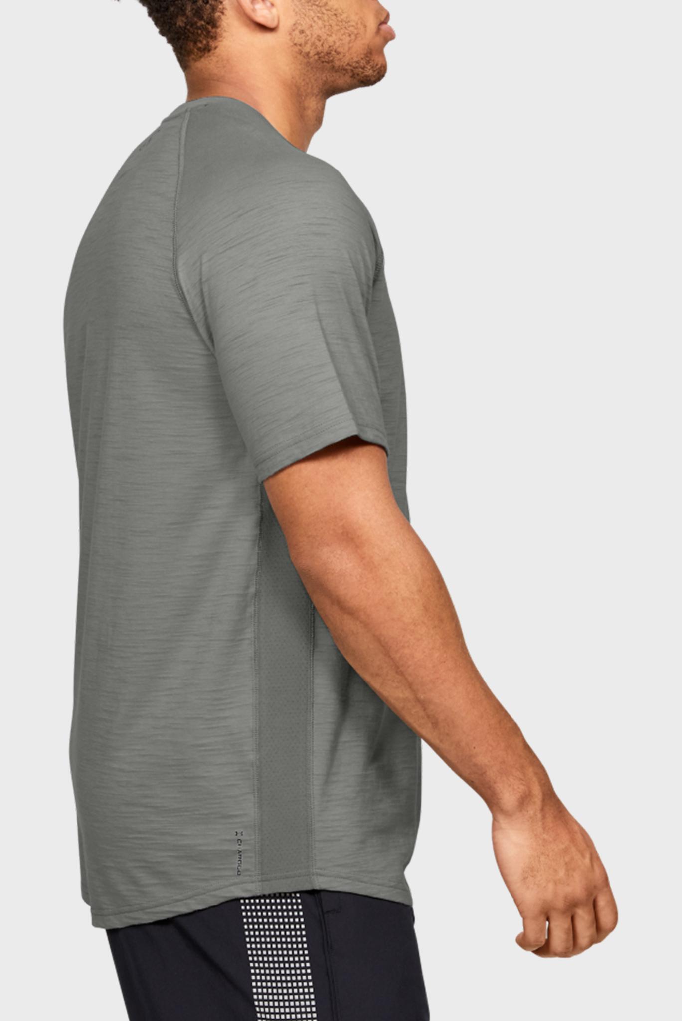 Мужская зеленая футболка Charged Cotton SS Under Armour