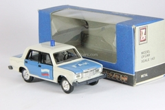 VAZ-2107 Lada GAI Police Russia with flasher Agat Mossar Tantal 1:43