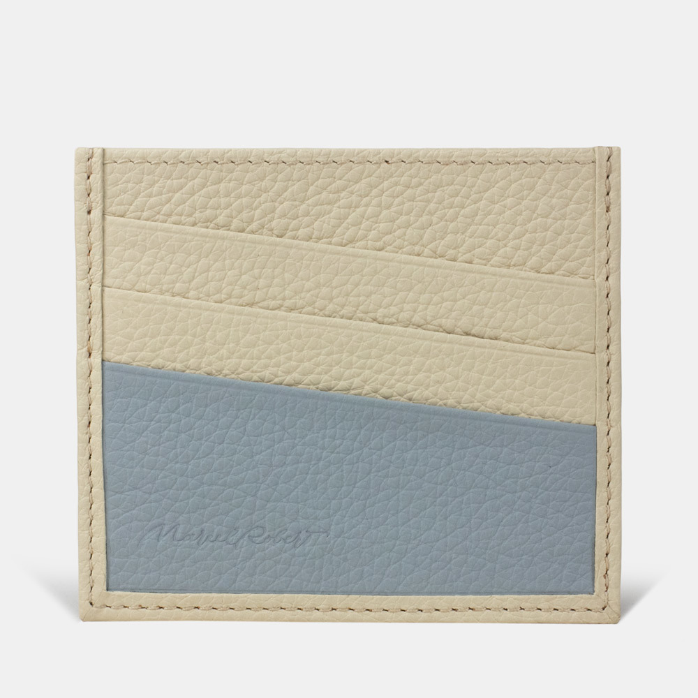 Картхолдер-визитница Carte Bicolor из натуральной кожи теленка, молочного цвета