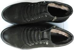Мужские зимние ботинки без шнурков  Luciano Bellini 71783 Black.