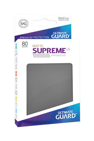 Supreme Sleeves Standard Size Matte Dark Grey (UX)