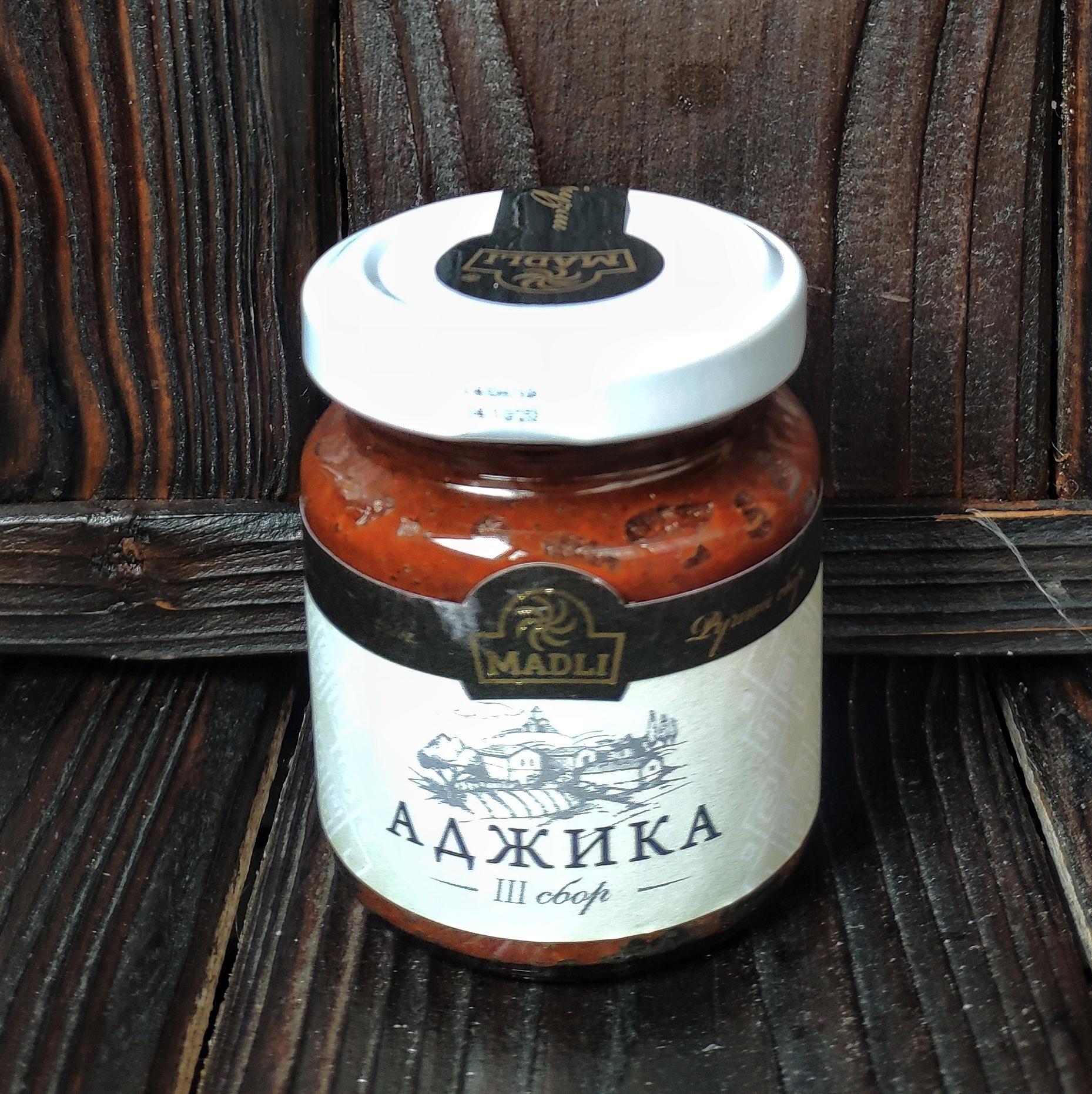 Фотография Аджика абхазская MADLI / 120 г купить в магазине Афлора