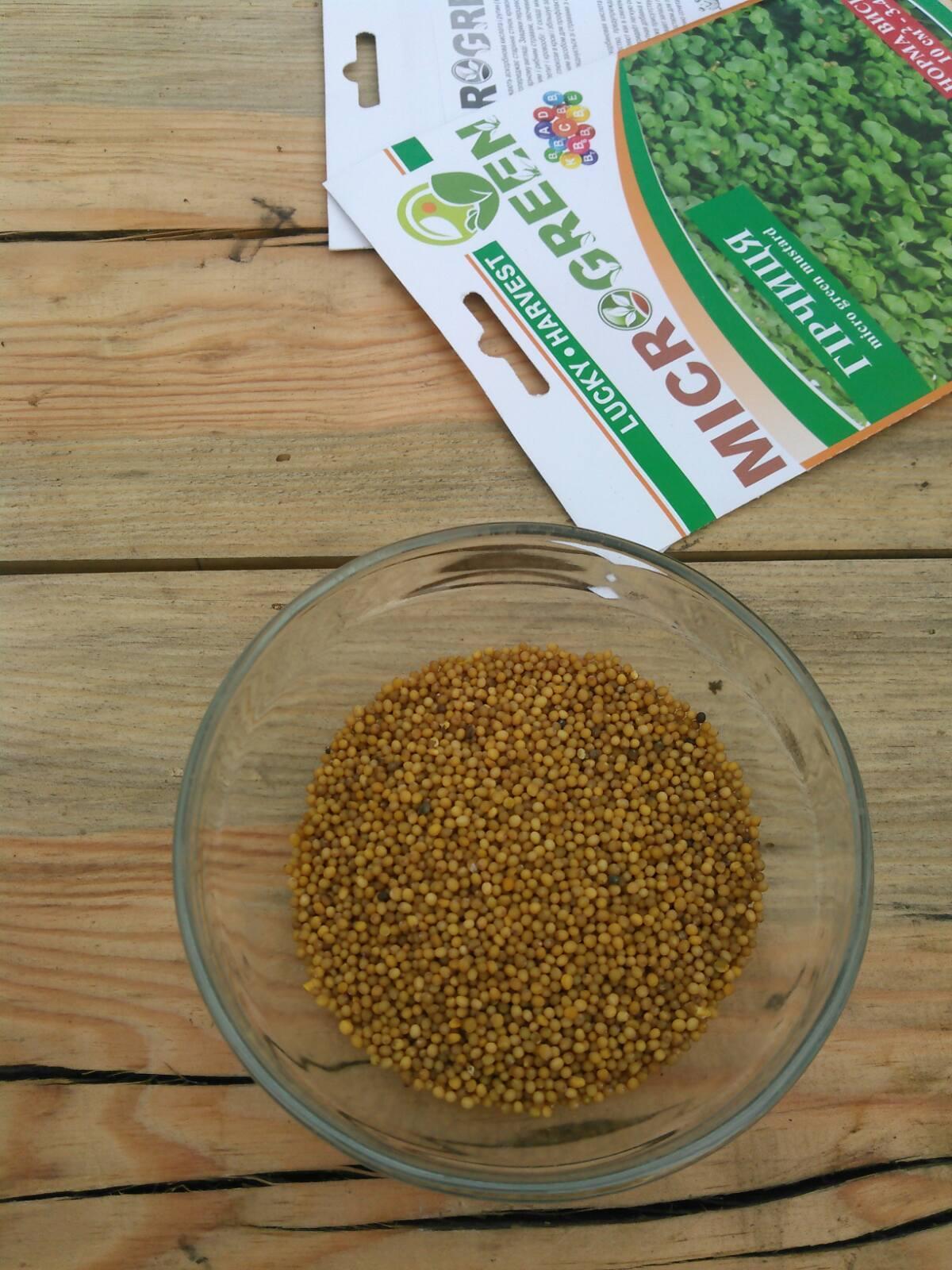 Семена Микрозелени Горчица, 10 г. LUCKY HARVEST (Украина)