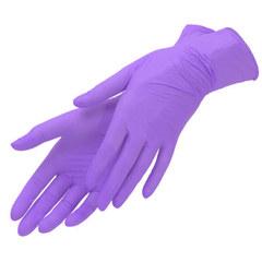 Перчатки нитриловые UNEX 100 шт, M, сиреневые