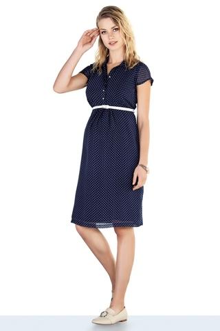 Платье для беременных 10272 синий