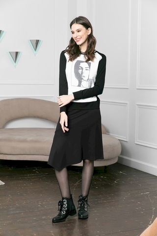 Фото асимметричная расклешенная юбка - Юбка Б148-884 (1)
