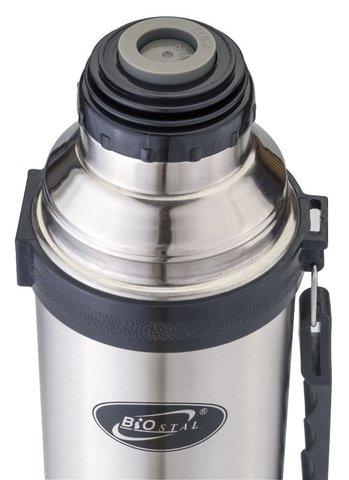 Термос Biostal (0,6 литра) с ручкой, стальной