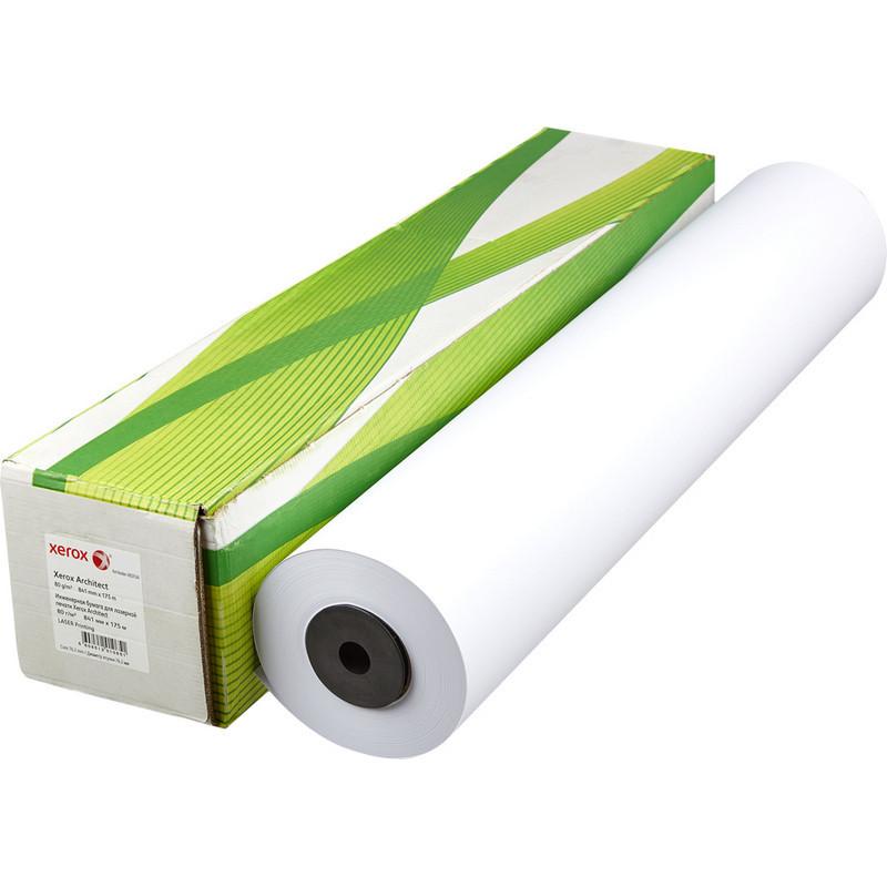 Бумага широкоформатная Xerox Architect (диаметр втулки 76 мм, длина 175 м, ширина 841 мм, плотность 80 г/кв.м, белизна 170 %)