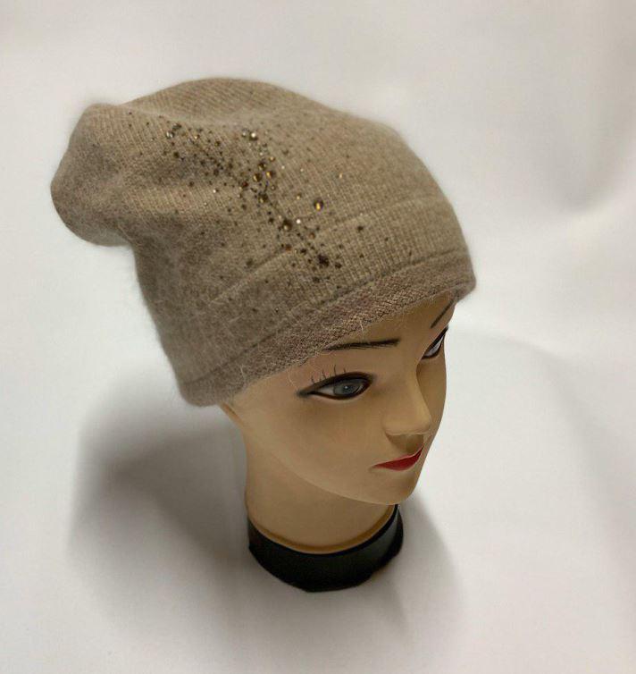 Женская шапка светло-коричневая SH H9509-1A brown