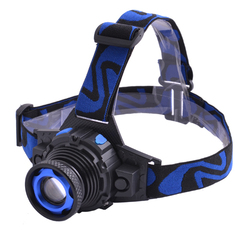 Ф.налобный Police W001-XPE, zoom, аккум.встроен., 12V