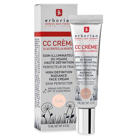 Erborian CC Крем  клер контроль цвета CC Cream Clair High Definition Radiance Face Cream Skin Perfector