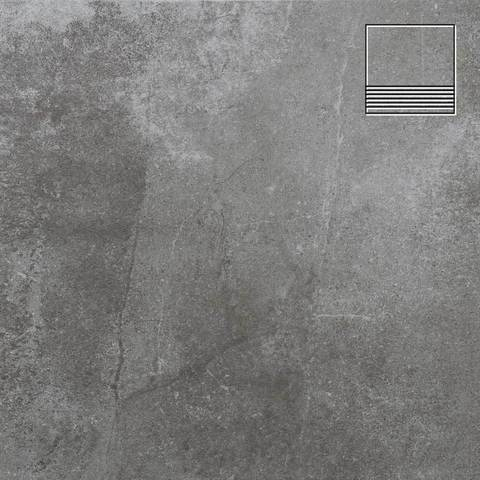 Stroeher - Keraplatte Aera 710 crio 300x294x10 артикул 8131 - Клинкерная ступень с насечками без угла