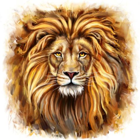 Алмазная Мозаика 30x40 Величественный лев
