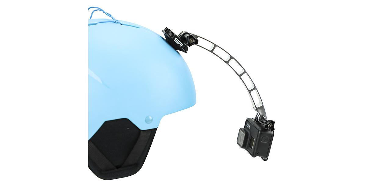 Удлинитель на шлем SP POV Extender на шлеме с камерой вид сбоку 2