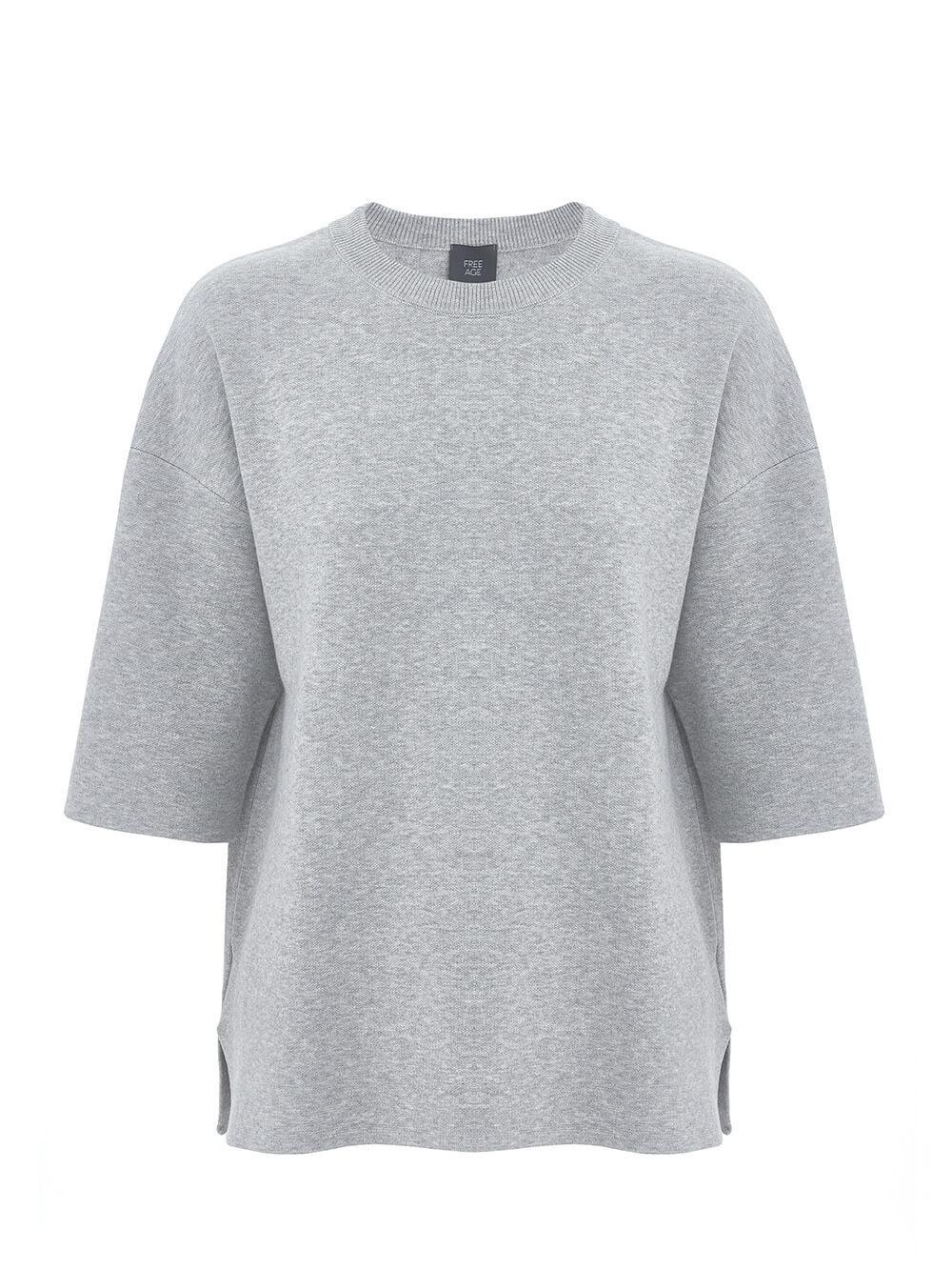 Женский джемпер цвета серый меланж из вискозы - фото 1