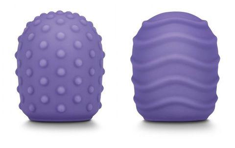 Набор из 2 фиолетовых текстурированных насадок для Le Wand Petite