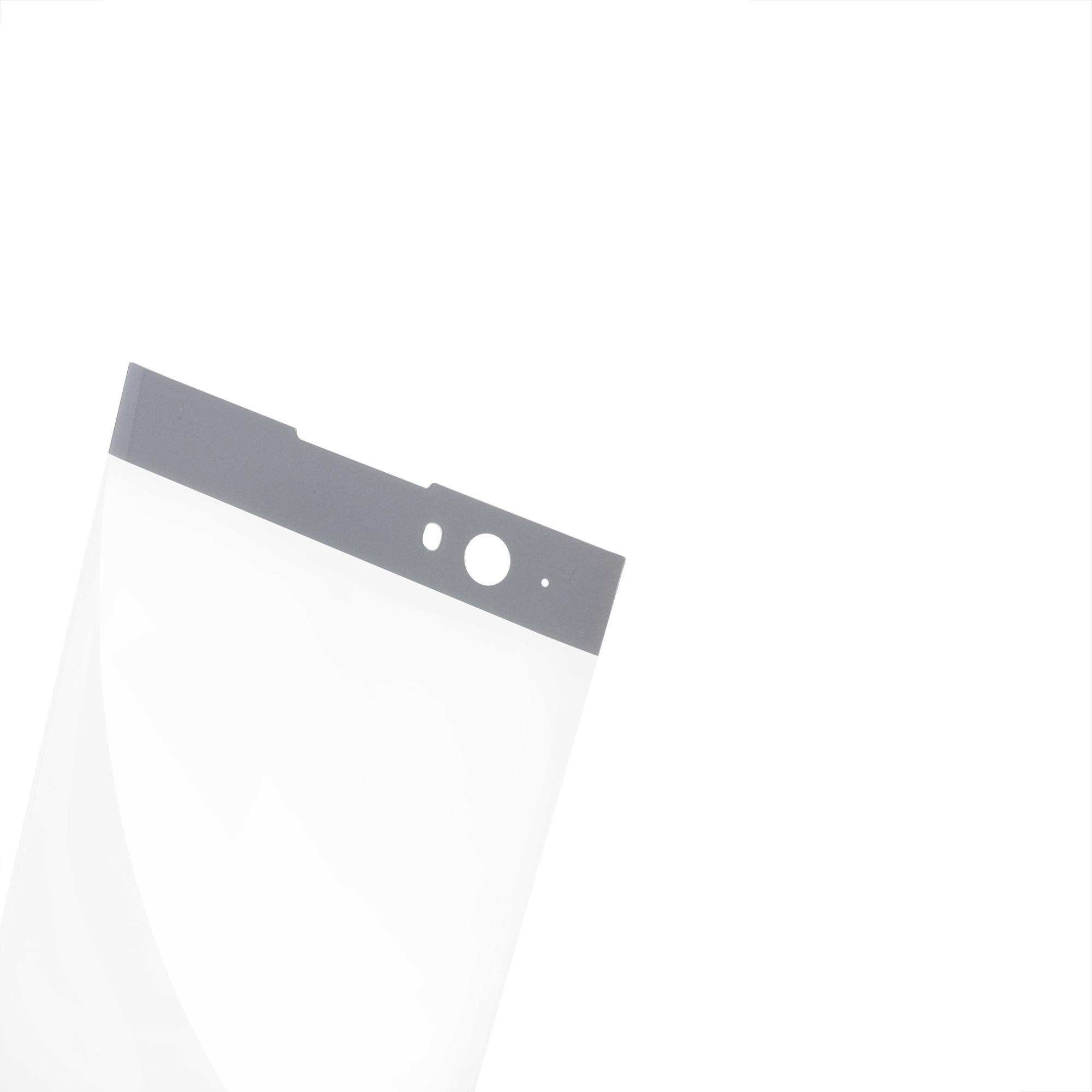 Защитное стекло для Xperia XA2 серебристого цвета