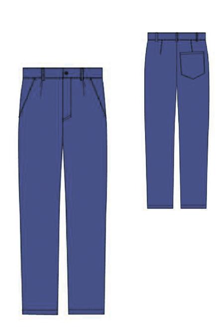 Лекала женского рабочего костюма брюки