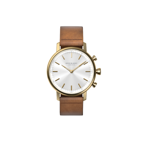 Kronaby Gold Brown Leather Carat