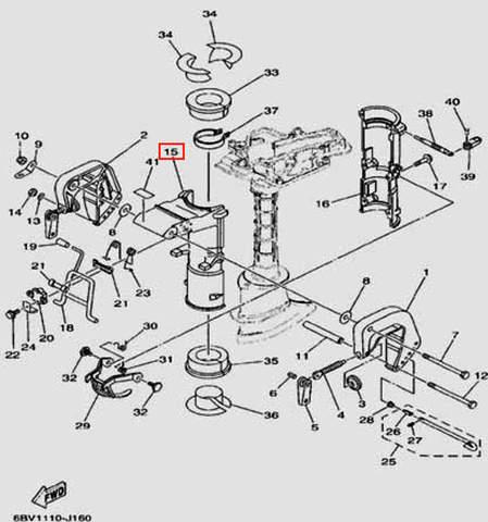 Поворотный кронштейн для лодочного мотора F5 Sea-PRO(16-15)