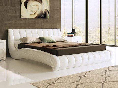 Кровать двуспальная Nuvola 1 (Нувола 1) Экокожа Caiman Croco