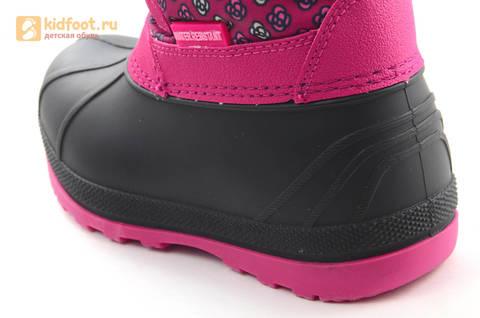 Зимние сапоги для девочек непромокаемые с резиновой галошей Свинка Пеппа (Peppa Pig), цвет фуксия, Water Resistant. Изображение 12 из 16.