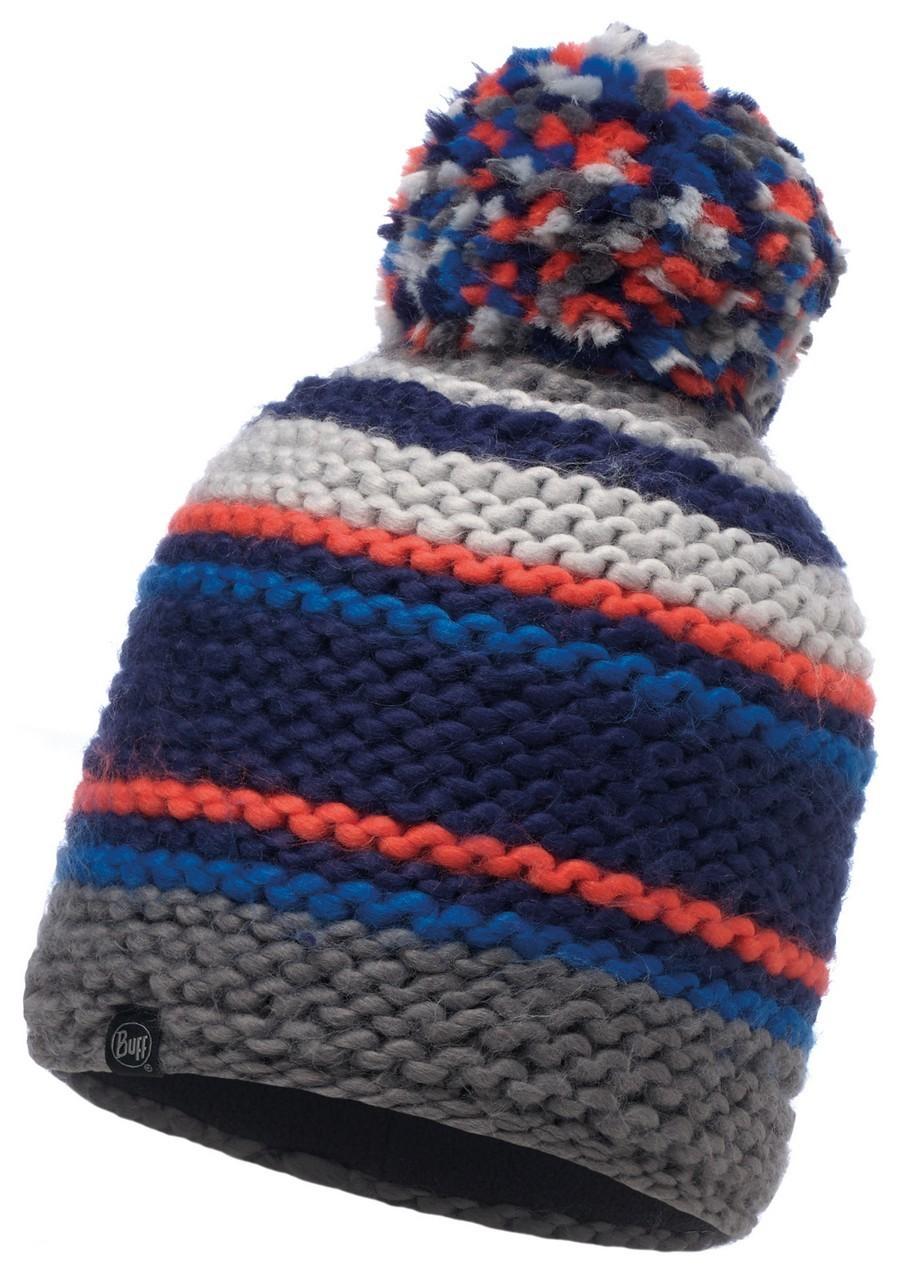 Шапки крупной вязки Вязаная шапка с флисовой подкладкой Buff Dorian Blue Ink 116024.752.10.00.jpg
