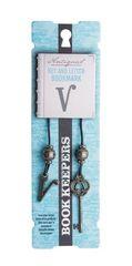 Bookmark Keepers Antiq Letter V