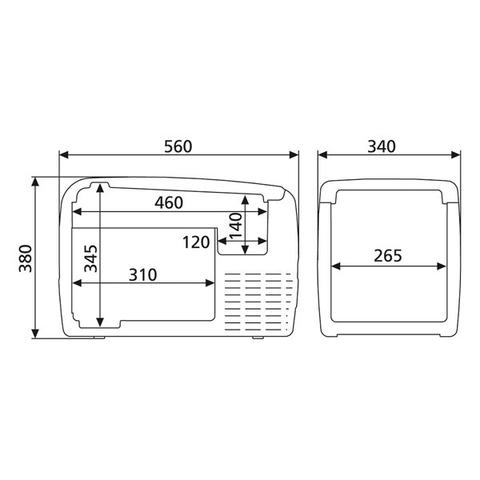 Автохолодильник Dometic CoolFreeze CDF-36, 31л, охл./мороз., пит. (12/24V)