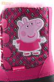 Зимние сапоги для девочек непромокаемые с резиновой галошей Свинка Пеппа (Peppa Pig), цвет фуксия, Water Resistant. Изображение 13 из 16.