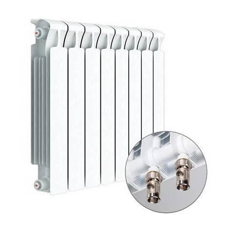 Радиатор биметаллический секционный Rifar Monolit Ventil 350 - 8 секций (подключение нижнее правое)